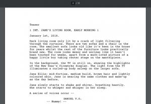 6057script writing